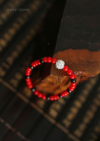 Beaded, Strands Women's Party Wholesale-The new Chinese wind Zang Redstone magic ball garnet bracelet female models vintage jewelry