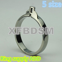 Wholesale Male Chastity Belt Cock Rings Metal Bondage add Ring For Cock Cage Bondage Gear Bdsm Toy Anal Plug Urethral Butt