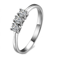 Wholesale Luxury certificate ct moissanite engagement rings for women K white gold semi stones diamond rings for women