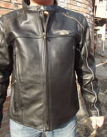 leather motorcycle apparel - best selling Men s th Leather motorcycle Jacket motorcycle jacket S XL men s leather coat motorcycle apparel