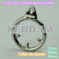 Wholesale Male Chastity Belt Cock Ring Stainless Steel Bondage Gear Bdsm Restraints Urethral Sounds Butt Plug Anal Jewelry Fetish