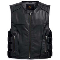 best riders - rider vest best selling men s genuine road COOL Leather VEST vm motorcycle jacket S XXL