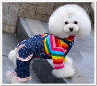 Spring/Summer bib brace jeans - New arrival pet dog apparel pet dog denim trousers suspender trousers bib overalls overalls braces lovely jeans rompers