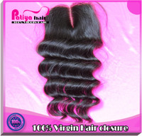 Natural Color Human Hair Hair Extension Free Shipping! Queen hair brazilian virgin hair lace top closure Can be dyed 4x4 middle part lace closure bleached knot