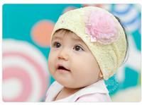 Wholesale New Elastic lace Flower Design baby Children s hair bandHair Ornaments Cute Toddler Kids Hair Fashion Accessories Headwear