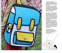 Wholesale 2013 Korean explosion models secondary yuan package comic double jump from paper bag tide backpack school bags