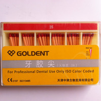 Cheap Wholesale - 5 Boxes Goldent Big-Tapered Dental Gutta Percha Points Mix & Match 120 Pieces Box Free ship Promotion