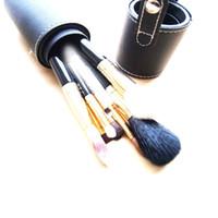 Wholesale 8pcs Makeup Brushes Set Professional Cosmetic Nylon Fiber make up brush Kits with Roll up Leather Cylinder Case