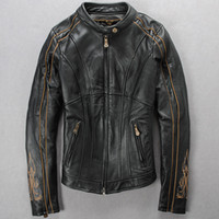 Wholesale special best selling TH ANNIVERSARY WOMEN S LEATHER JACKET motorcycle jacket S XXL