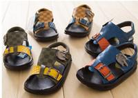 Boy Summer Cotton Drop sjhip!Non-slip children's sandals,tide boys casual sandals,21-25 yards baby shoes,belt buckle toddler shoes,baby wear.5pairs 10pcs.ZL