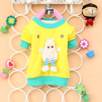 Cheap Cut baby boy girl T Shirt fluffy duck Tees cotton terry Tops long sleeve letters children clothing kid clothes spring autumn