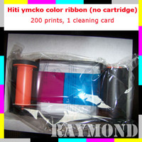 Wholesale HiTi CS Series Card label printer YMCKO Color transfer ribbon Prints