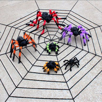 Wholesale Large plush toy spider flower spider Halloween Horror Haunted Halloween cobwebs bar decorated props