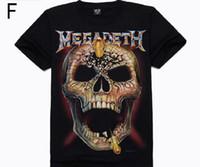 Wholesale Fashion Skull T shirt series Metal Empire T shirt D short sleeved cotton T shirt punk personality t shirt cotton Printing T Shirt