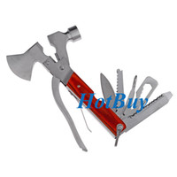Wholesale New Multi function Outdoor Camping Emergency Survival Tools Hatchet Axe Hammer