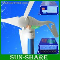 Wholesale small wind turbine max power w w wind solar hybrid controller w wind generator w solar panel