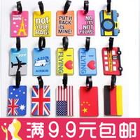 Wholesale Soft fashion travel luggage tag luggage tag luggage boarding card identification cards work a variety of multi color