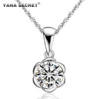 Cheap Yana flower necklace 1.5 pendant high artificial diamond pendant