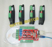 Wholesale New products Axis motor driver V A micsteps controller kit with Axis USBCNC breakout board