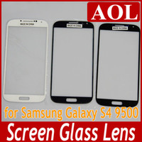 Wholesale High Quality For Galaxy S4 Outer Screen Glass Lens Glass Digitizer Screen Cover for Samsung Galaxy S4 IV i9500 i9505 Black White Deep blue