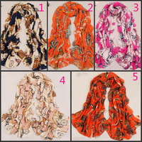 Velvet chiffon Scarves Female 2014 spring and summer Europe and America retro wagon velvet chiffon long scarf 4 kinds of color size 173*63
