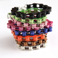 Wholesale Alloy Bicycle Bike Chain Bracelet Childhood Memories Hip Hop Style Fashion Jewelry Bracelets NL016
