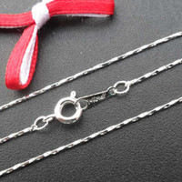 Wholesale DIy Jewelry accessories chains KR SILVER tone brass chain necklace necklace chian x1mm
