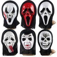 Wholesale 20PCS Mens Mask Halloween Masquerade Masks Mardi Gras Venetian Dance Party Full Face The Mask Mixed Styles Terror Wacky Toys