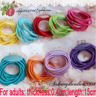 Wholesale adult Baby Girl Kids Tiny Hair Accessary Hair Bands Elastic Ties Ponytail Holder color