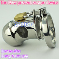 Unisex Item specifics Male Chastity Belt Male Chastity Belt Stainless Steel Cock Cage For Man Metal Penis Ring Bondage Gear Urethral Toys