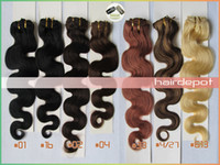 Wholesale SALES set g g quot Wavy Clip in Human Hair Extensions Remy A Grade body wave Clip Hair Extension Bravo free ChinaPost