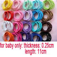 Wholesale Baby Girl Kids Tiny Hair Accessary Hair Bands Elastic Ties Ponytail Holder color children hairtie