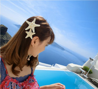 Barrettes & Clips beautiful jewelry - Beautiful Luck Starfish Hair Clip Barrette Clips Fashion Jewelry Hair Pins Gift C1219