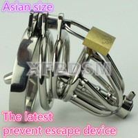 Wholesale Male Chastity Belt With Urethral Sounds Penis Plug Cock Ring Fetish Anal Hook Bondage Gear Sex Toy Leather Harness