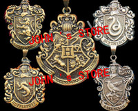 Wholesale Freeshipping PC a Harry Potter HOGWARTS Gryffindor Hufflepuff Slytherin Ravenclaw School Crest necklace mixing styles