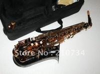 Wholesale Newest Black Nickel Selmer Alto Saxophone BEST Saxophone FREE CASE