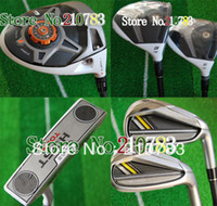 Wholesale NEW golf clubs R Drivers stage2Fairway Woods irons Putter Complete Club Sets Right graphite shaft no bag EMS