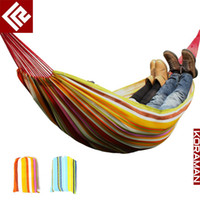 Cotten   Wholesale - Indoor and outdoor casual hammock swing double lovers oxford fabric hammock 150cm broadened