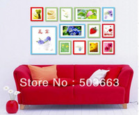 Cheap Wholesale - Popular Picture Frame Wall 13 Pcs Mash-up Lovely Wood Wall Mounted Photo Frame Art Home Decor Set Foam L-A13