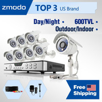 Box/Body   Wholesale - Zmodo 600TVL CCTV system High Resolution 8CH home video Surveillance with 8 outdoor indoor security camera System NO Hard Drive