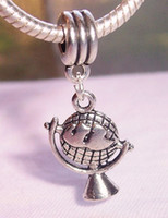antique maps - MIC Antique Silver Globe Map World Earth Charm Pendants mm x mm Jewelry DIY z041