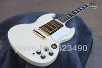 Red Solid Left-handed Wholesale - Best Price Custom Shop SG Custom Reissue VOS Electric Guitar Classic White Freeshipping Ebony Fretsboard