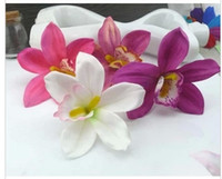 Wholesale Freeshipping NEW Artificial Orchid Flower hair clips Hairpins Girl decorate Hair wear Bridal Hair