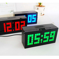 Mechanical   Wholesale - Free shipping photo frame clock with big Led digital have alarm and weather station function desk clocks