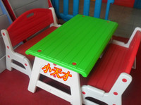 Wholesale Deluxe child table plastic table desk backrest chair kindergarten equipment casual furniture stool