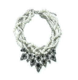 Wholesale March new gifts for women necklace europe dress flower choker necklace pendant collar necklaces resin jewellery WK140309