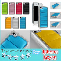 Wholesale For Iphone G S For Samsung Body armor Defender PC With PU leather Case Padding Case cover skin shell case Color