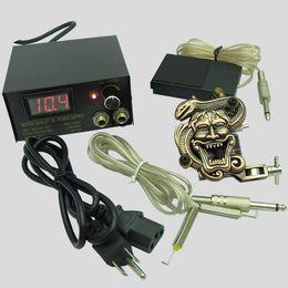 Wholesale 1set Mini Permanent Tattoo Kit K005 with pc Tattoo Machine Gun and Tattoo Power for LKJGNES
