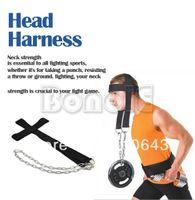 TK0864# Nylon Black New Nylon Head Harness Neck Strength Head Strap Weight Lifting Exercise Fitness Belt TK0864