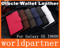 Wholesale Book Style Wallet Folio Stand Leather Case Cover Skin Pouch for Samsung Galaxy S5 I9600 with Credit Card Slot Money Pocket